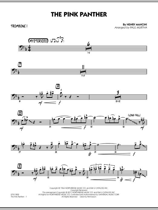 The Pink Panther - Trombone 1 (Jazz Ensemble)
