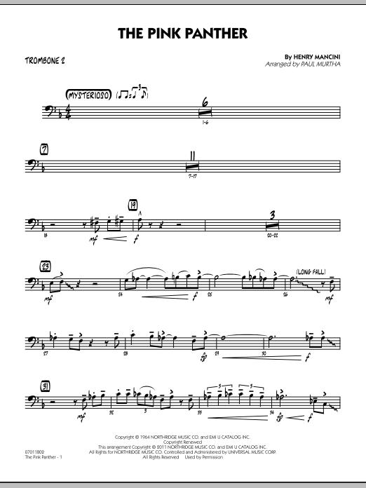 The Pink Panther - Trombone 2 (Jazz Ensemble)