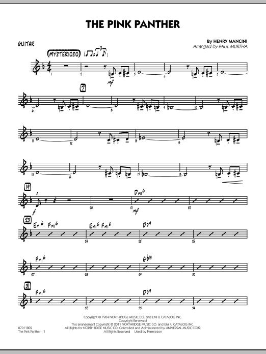 The Pink Panther - Guitar (Jazz Ensemble)