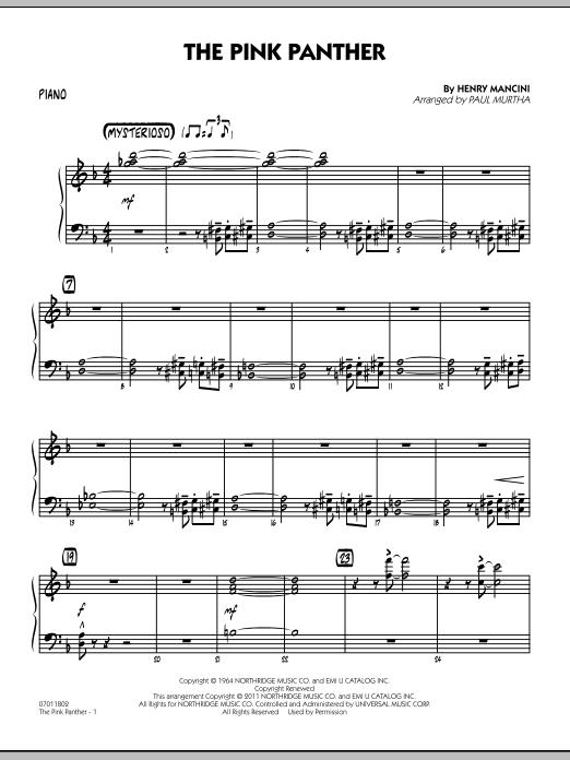 The Pink Panther - Piano (Jazz Ensemble)