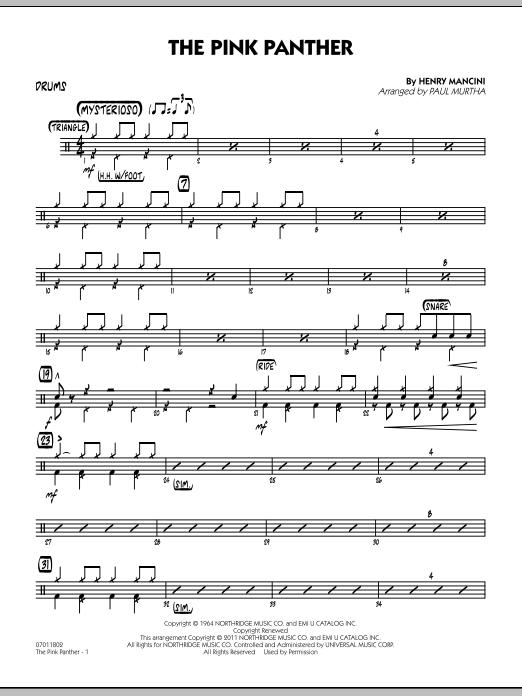 The Pink Panther - Drums (Jazz Ensemble)