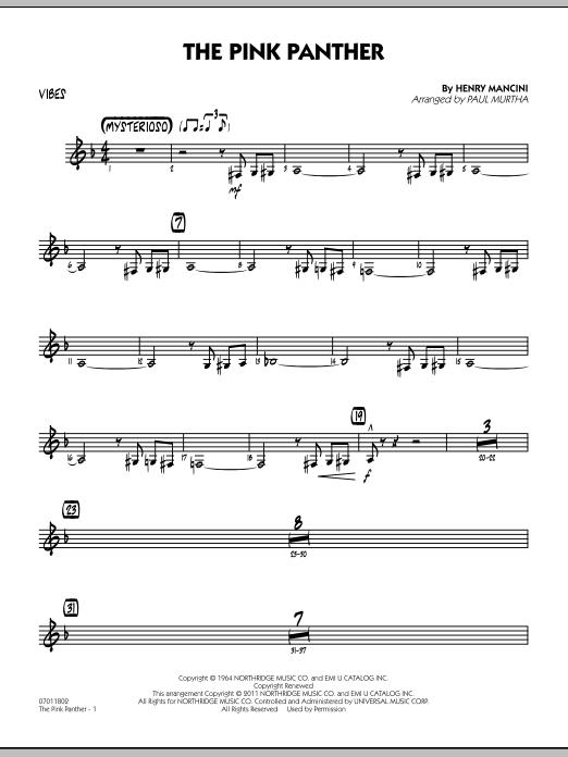 The Pink Panther - Vibes (Jazz Ensemble)