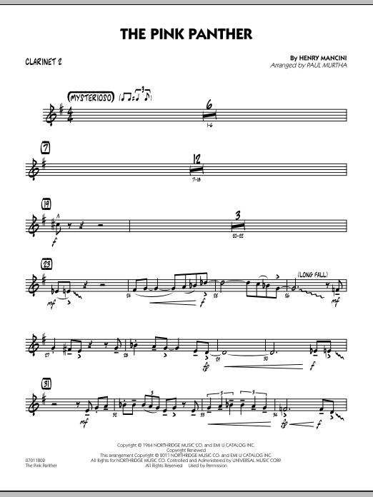 The Pink Panther - Bb Clarinet 2 (Jazz Ensemble)