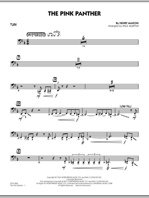 The Pink Panther - Tuba (Jazz Ensemble)
