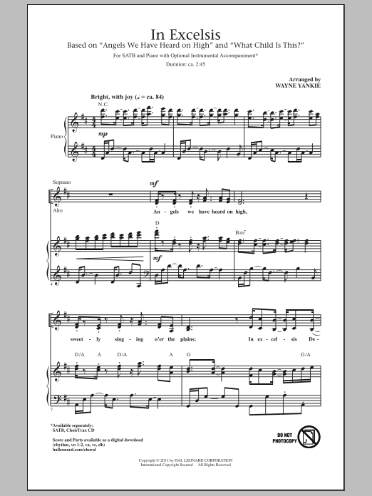 In Excelsis Sheet Music