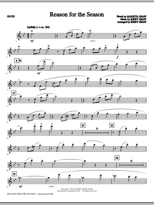 Reason For The Season - Flute Sheet Music