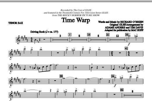 Time Warp - Tenor Sax (Choir Instrumental Pak)