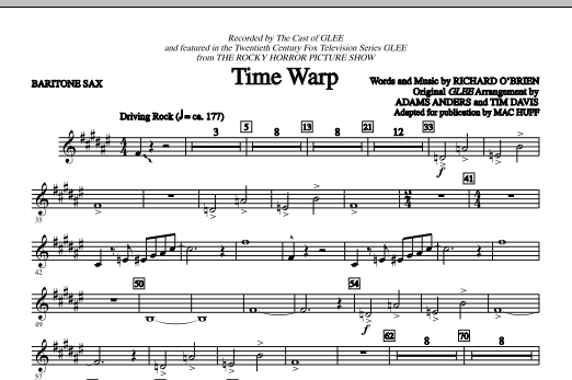 Time Warp - Baritone Saxophone (Choir Instrumental Pak)