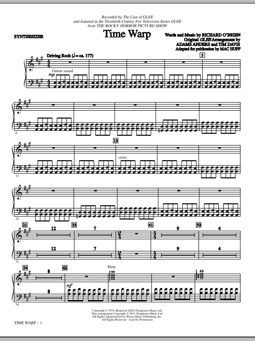 Time Warp - Synthesizer (Choir Instrumental Pak)