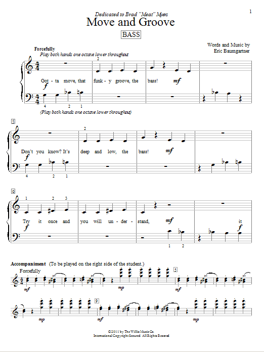 Partition piano Move And Groove (Bass) de Eric Baumgartner - Autre