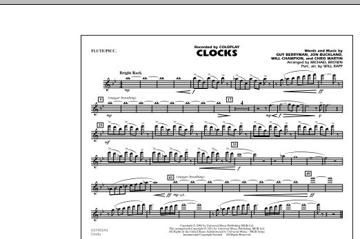 Clocks - Flute/Piccolo (Marching Band)