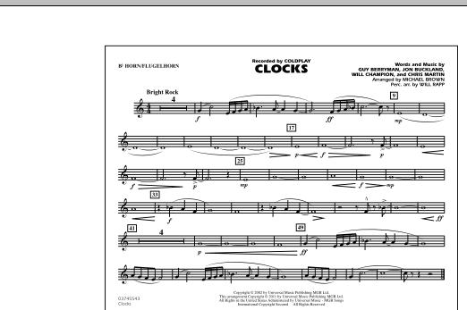 Clocks - Bb Horn/Flugelhorn (Marching Band)