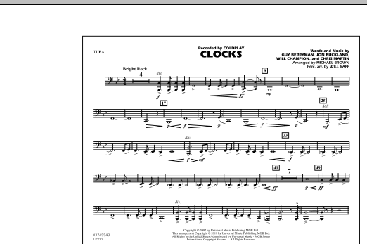 Clocks - Tuba (Marching Band)