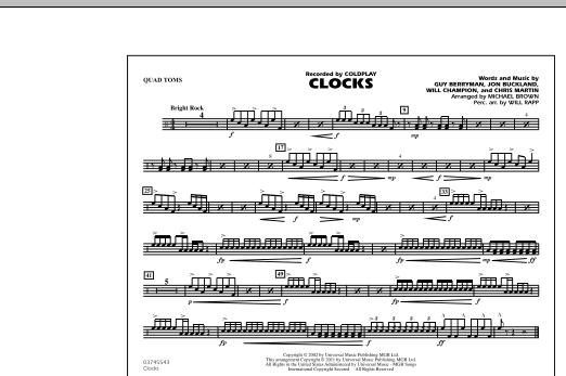 Clocks - Quad Toms (Marching Band)