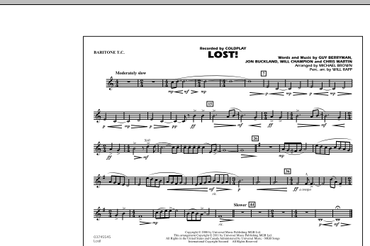 Lost! - Baritone T.C. (Marching Band)