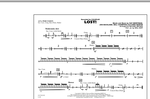 Lost! - Aux Percussion (Marching Band)