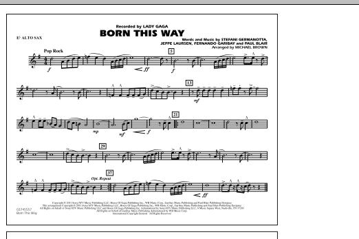 Born This Way - Eb Alto Sax (Marching Band)