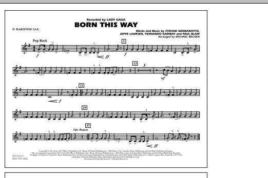 Born This Way - Eb Baritone Sax (Marching Band)