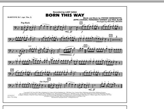Born This Way - Baritone B.C. (Opt. Tbn. 2) (Marching Band)