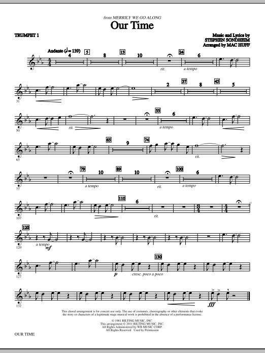 Our Time - Bb Trumpet 1 (Choir Instrumental Pak)