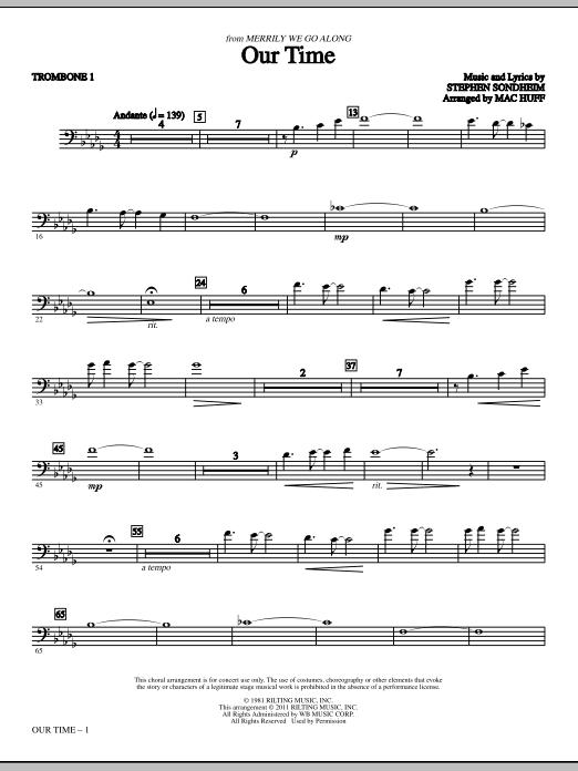 Our Time - Trombone 1 (Choir Instrumental Pak)