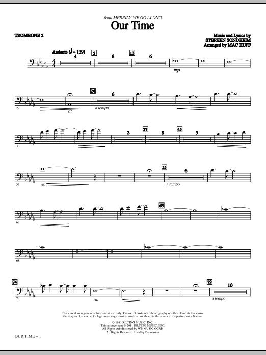 Our Time - Trombone 2 (Choir Instrumental Pak)