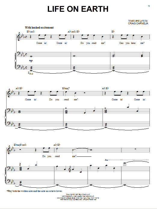 Life On Earth Sheet Music