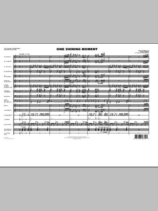 One Shining Moment - Conductor Score (Full Score) (Marching Band)