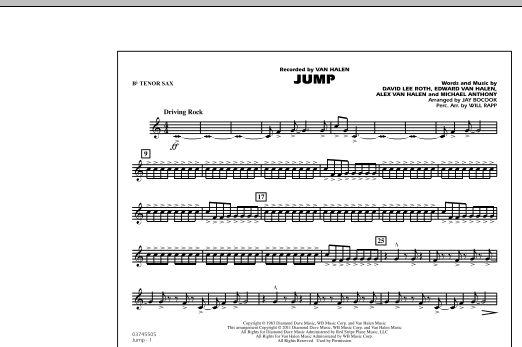 Jump - Bb Tenor Sax (Marching Band)