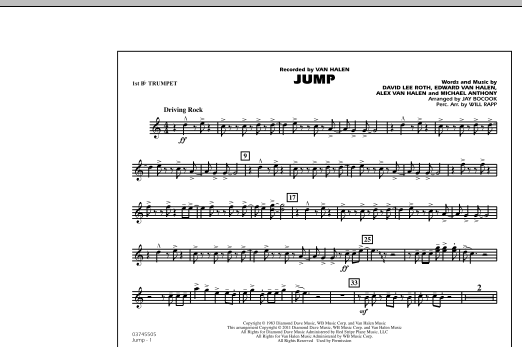 Jump - 1st Bb Trumpet (Marching Band)