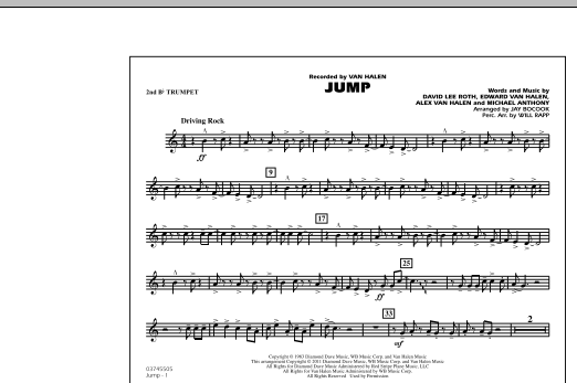 Jump - 2nd Bb Trumpet (Marching Band)