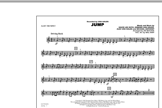Jump - 3rd Bb Trumpet (Marching Band)