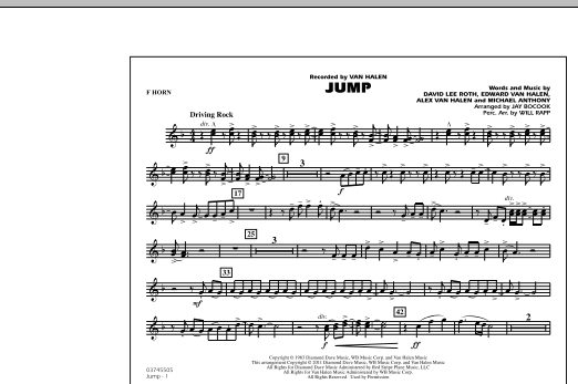 Jump - F Horn (Marching Band)