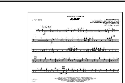 Jump - 1st Trombone (Marching Band)