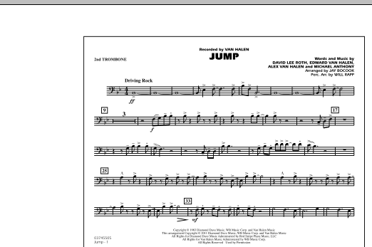 Jump - 2nd Trombone (Marching Band)