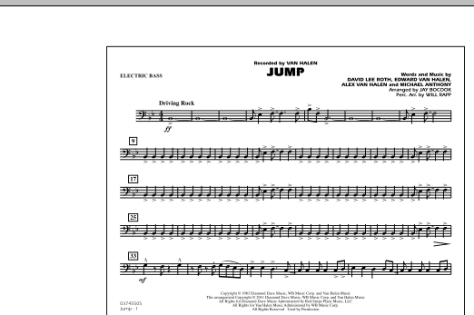 Jump - Electric Bass (Marching Band)