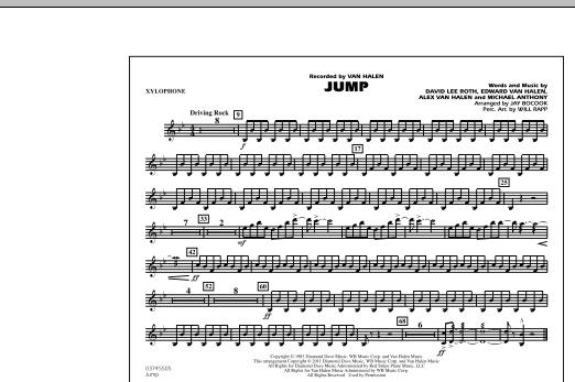 Jump - Xylophone (Marching Band)