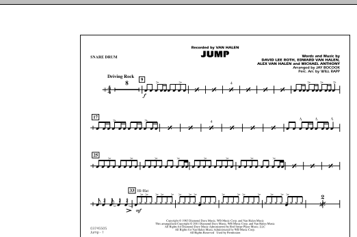 Jump - Snare Drum (Marching Band)