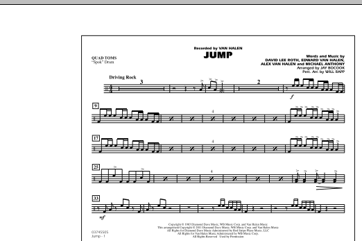 Jump - Quad Toms (Marching Band)