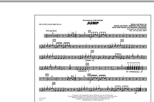 Jump - Multiple Bass Drums (Marching Band)