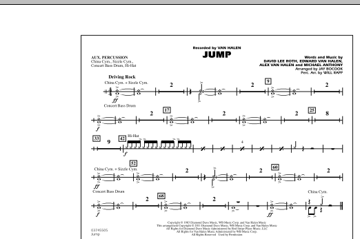 Jump - Aux Percussion (Marching Band)