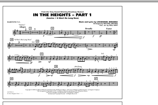 In The Heights: Part 1 - Baritone T.C. (Marching Band)