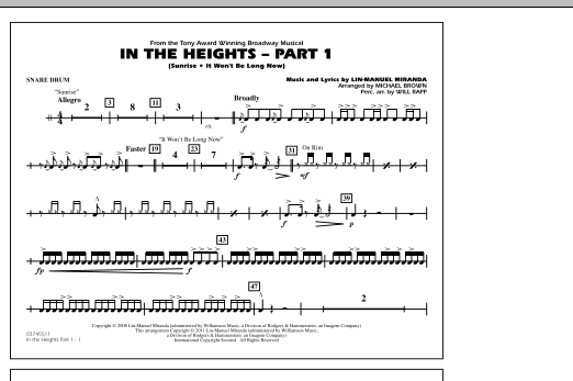 In The Heights: Part 1 - Snare Drum (Marching Band)
