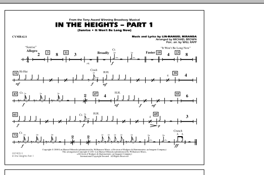 In The Heights: Part 1 - Cymbals (Marching Band)