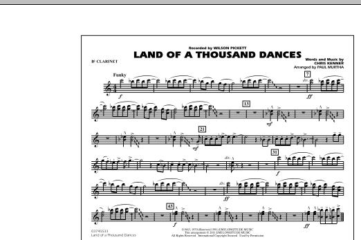Land Of A Thousand Dances - Bb Clarinet atStanton's Sheet Music