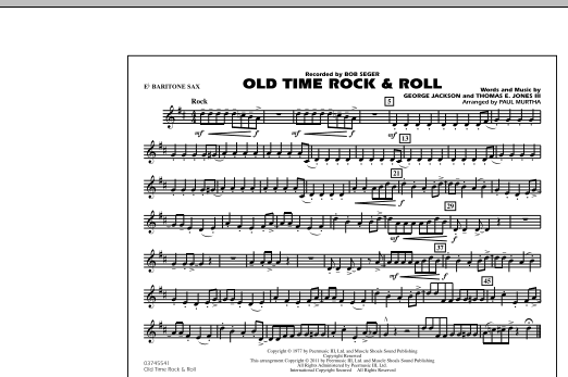 Old Time Rock & Roll - Eb Baritone Sax (Marching Band)
