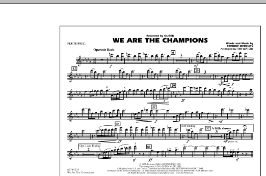 We Are The Champions - Flute/Piccolo (Marching Band)
