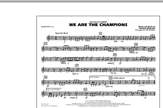 We Are The Champions - Baritone T.C. (Marching Band)