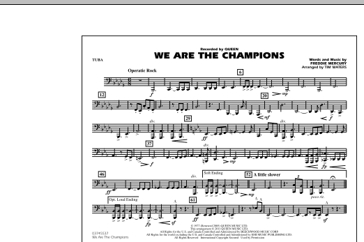 We Are The Champions - Tuba (Marching Band)