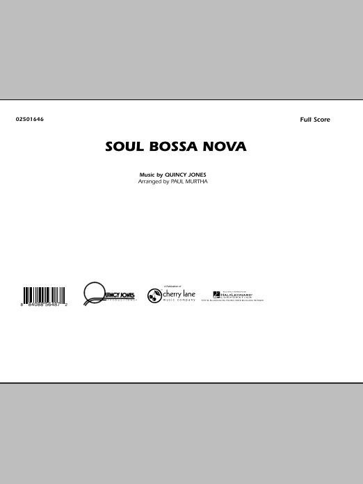 Soul Bossa Nova (COMPLETE) sheet music for marching band by Quincy Jones and Paul Murtha. Score Image Preview.